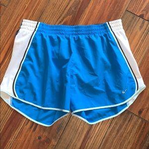 Nike blue athletic running shorts medium